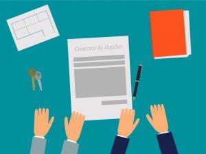 Firma de un contrato de alquiler de vivienda